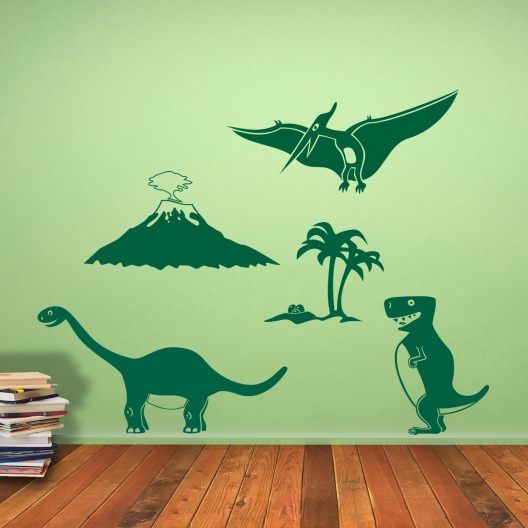 Urzeitwelt dinosaurier wandtattoo set wandtattoo - Wandtattoo dino ...