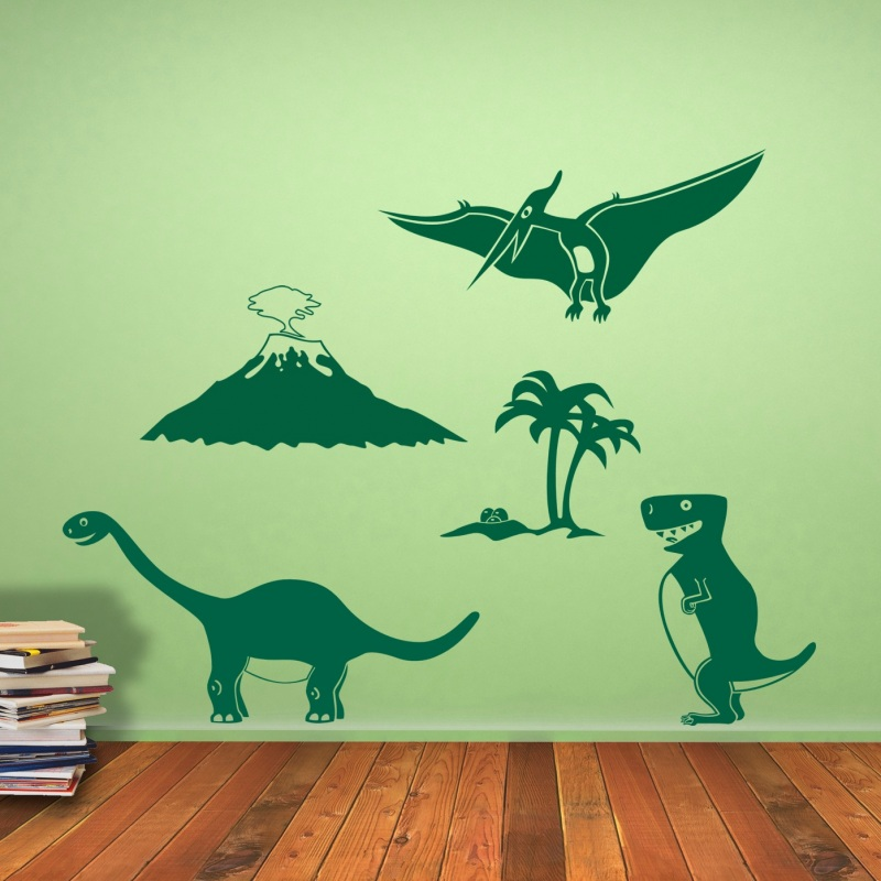 urzeitwelt dinosaurier wandtattoo set wandtattoo. Black Bedroom Furniture Sets. Home Design Ideas
