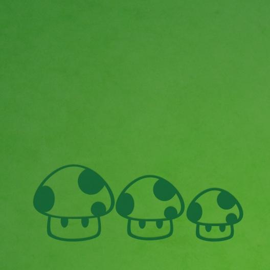 Pilze Wandtattoo
