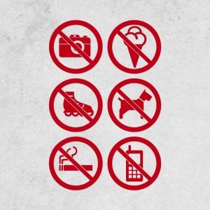 Verbotsschilder für Einzelhandel