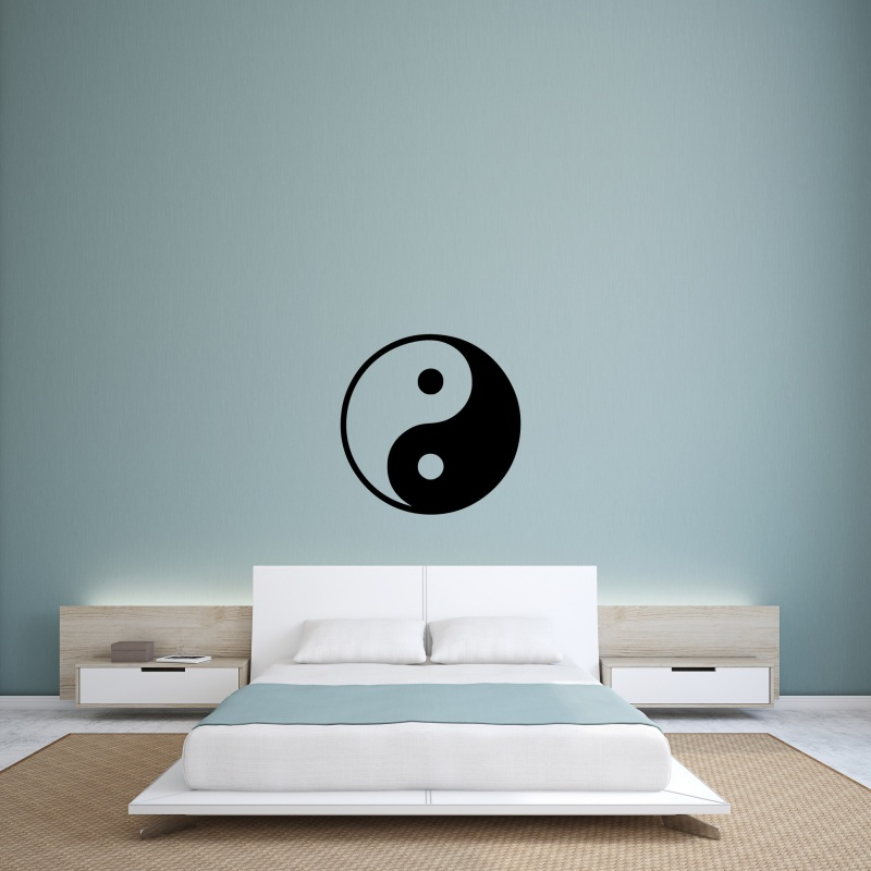 yin yang wandtattoo. Black Bedroom Furniture Sets. Home Design Ideas