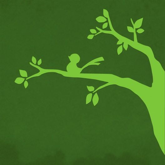 Vogel auf Zweig