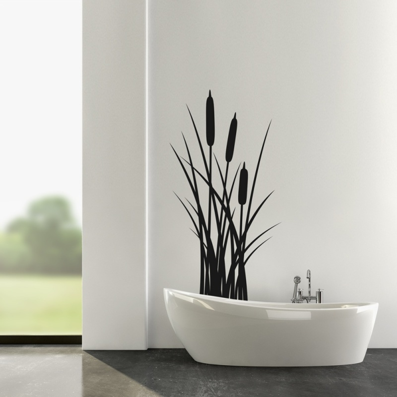 schilf wandaufkleber wandtattoo. Black Bedroom Furniture Sets. Home Design Ideas