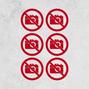 Verbotsschilder - Set - Fotografieren verboten